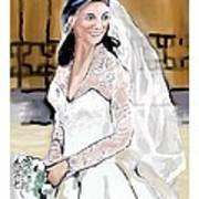 Catherine Duchess Of Cambridge Print  Poster by Eric  Schiabor
