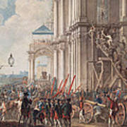 Catherine II On The Balcony Of The Winter Palace, Greeted By Guards And People On The Day Poster