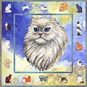 Cats Purrfection Four - Persian Poster