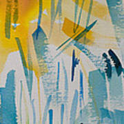 Cattail Sun Poster