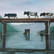 Cattle Crossing Poster