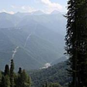 Caucasus Mountains - Krasnaya - Sochi Russia Poster