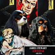 Cavalier King Charles Spaniel Art - Vertigo Movie Poster Poster