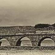 Ceasarea Aqueduct 1 Antiqued Poster