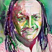 Cecil Taylor - Watercolor Portrait Poster