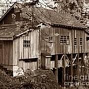 Cedar Creek Grist Mill Sepia Poster