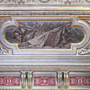 Ceiling Study Chateau De Chantilly Poster