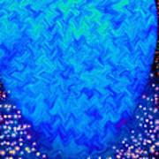 Celestial Blue Heart Poster