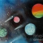 Celestial Planets Poster