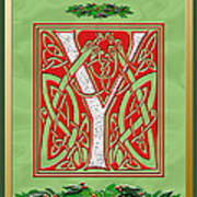 Celtic Christmas Initial Y Poster