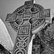 Celtic Cross At Trinity Poster