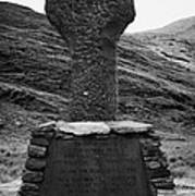 Celtic Cross Famine Memorial At Doulough County Mayo  Poster