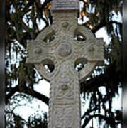 Celtic Cross In Savannah Poster