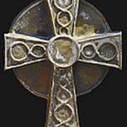 Celtic Cross Sepia Poster