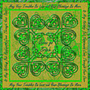 Celtic Irish Clover Home Blessing Poster
