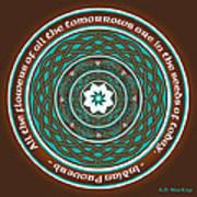 Celtic Lotus Mandala Poster