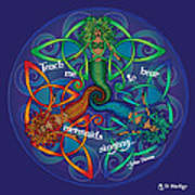 Celtic Mermaid Mandala Poster