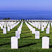 Cemetery At Waterfront, Fort Rosecrans Poster