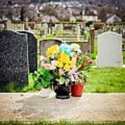Cemetery Flowers Poster