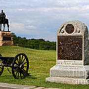 Cemetery Ridge Gettysburg Poster by James Brunker