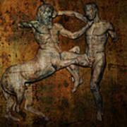 Centaur Vs Lapith Warrior Poster by Daniel Hagerman