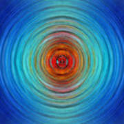 Center Point - Abstract Art By Sharon Cummings Poster