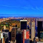 Central Park And New York City In Autumn Poster