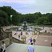 Central Park - Bethesda Fountain Poster