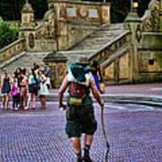 Central Park Hiker Poster