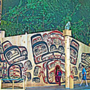 Ceremonial Lodge In Canadian Museum Of Civilization In Gatineau- Poster