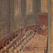 Ceremony Of Ordination At Lyon Cathedral Poster