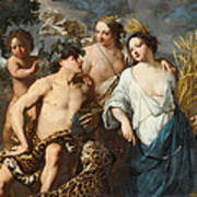 Ceres Bacchus And Venus Poster