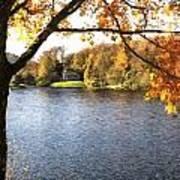 Cezanne Style Digital Painting Lake Landscape Autumn Fall Poster