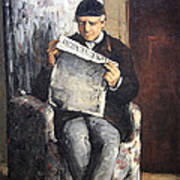 Cezanne's The Artist's Father Reading Le Evenement Poster