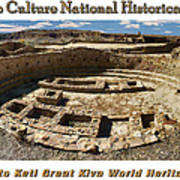 Chaco Culture National Historic Park Poster Poster