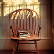 Chair And Lace Shadows Poster