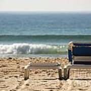 Chair on beach Poster