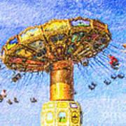 Chairoplane Waveswinger Poster