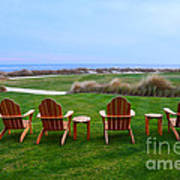 Chairs At The Eighteenth Hole Poster