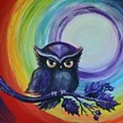 Chakra Meditation With Owl Poster
