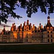 Chambord Castle At Sunset Poster