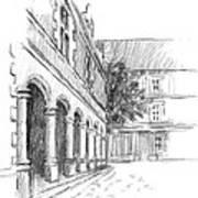 Chambord Courtyard Poster