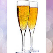 Champagne In Glasses Poster
