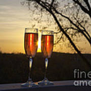 Champagne Sunset Poster by Kay Pickens