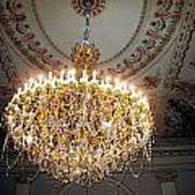 Chandelier At Palace Poster