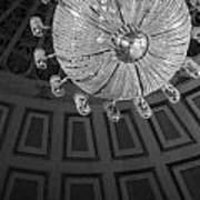 Chandelier-black And White Poster