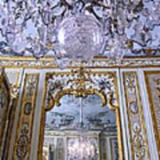Chandelier Inside Chateau De Chantilly Poster