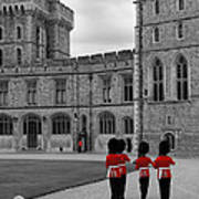 Changing Of The Guard At Windsor Castle Poster