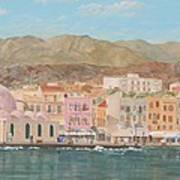 Chania Harbour Early Summer Morning Poster
