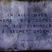 Chaos - Carl Jung Poster